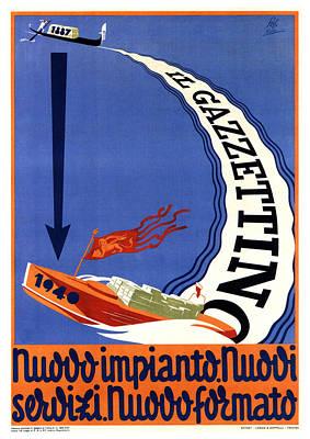 Mixed Media - Il Gazzettino - Italian Newspaper - Vintage Advertising Poster by Studio Grafiikka