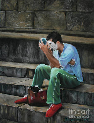 Pastel - Il Mimo - The Mime Florence Italy by Kelly Borsheim