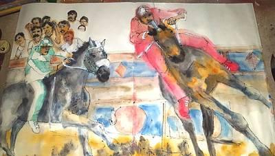 Race Horse Painting - il Palio di Siena album  by Debbi Saccomanno Chan