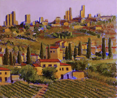 Tuscan Dusk Painting - Il Punto Di Vista Del Crepuscolo by David Zimmerman