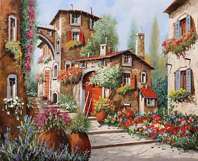 Paintings - Il Villaggio by Guido Borelli