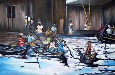 Arkansas Painting - Ilaje Obalende Makoko by Olaoluwa Smith