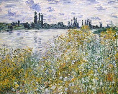 Vetheuil Painting -  Ile Aux Fleurs Near Vetheuil, 1880 by Claude Monet