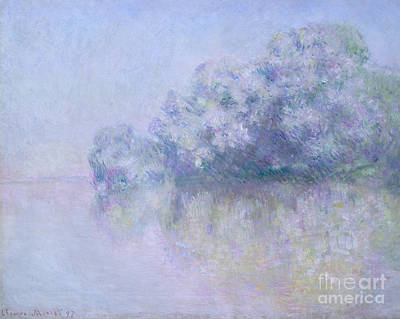 Reflecting Water Painting - Ile Aux Orties Near Vernon, 1897  by Claude Monet