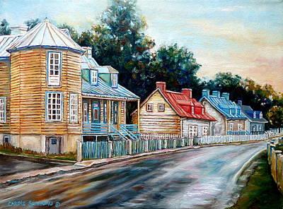 Ile D'orleans Quebec Street Scene Art Print by Carole Spandau