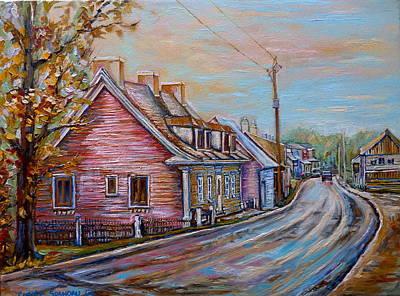 Iles D'orleans Quebec Village Scene Art Print by Carole Spandau