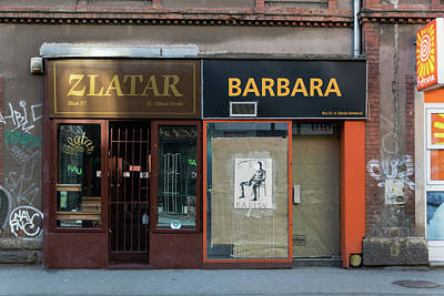 Door Photograph - Ilica Street Zagreb by Steven Richman