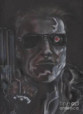 Schwarzenegger Painting - I'll Be Back by John Sodja