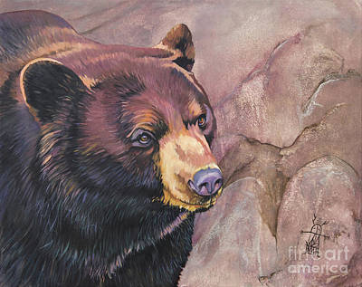 Painting - I'll Be Bear For You by J W Baker