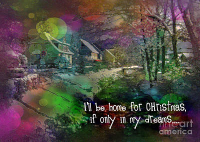 Digital Art - I'll Be Home Card 2016 by Kathryn Strick