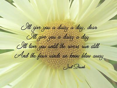 Photograph - I'll Give You A Daisy A Day Dear by Leslie Montgomery