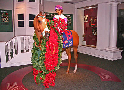 Horse In The Run Photograph - I'll Have Another - Statue In The Kentucky Derby Museum by Marian Bell