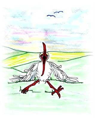 Ibis Drawing - I'll Never Fly Again by Carol Allen Anfinsen