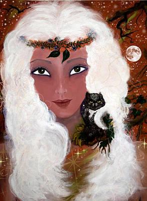 Night Owl Mixed Media - I'll Wait by Patricia Motley