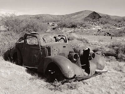 Photograph - Illegally Parked, Monochrome by Gordon Beck