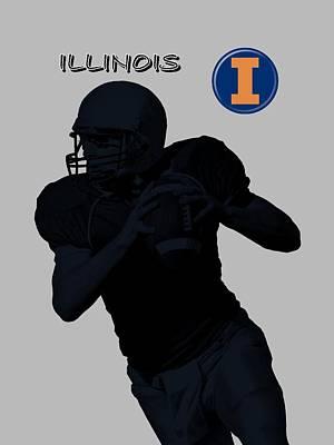 Michigan State Digital Art - Illinois Football by David Dehner