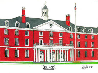 Drawing - Illinois by Frederic Kohli