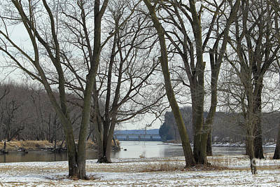 Illinois River At Starved Rock Winter Scene Art Print by Alan Look