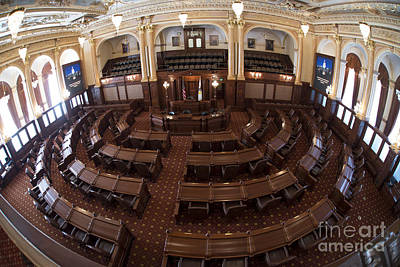 Photograph - Illinois Senate In Session by David Bearden