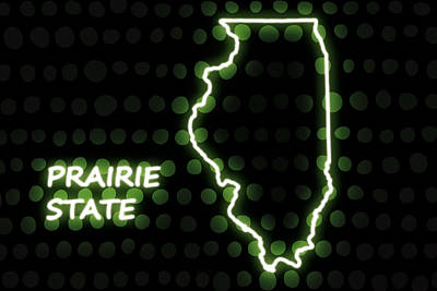 Lincoln Images Digital Art - Illinois - The Prairie State by Carlos Vieira