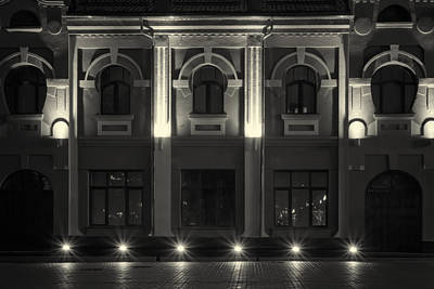 Photograph - Illuminated Building At Night by John Williams
