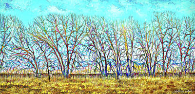 Digital Art - Illuminated Crystal Trees - Boulder County Colorado by Joel Bruce Wallach