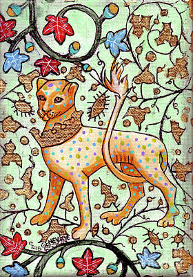 Painting - Illuminated Leopard Wearing Crown Around Its Neck by Genevieve Esson
