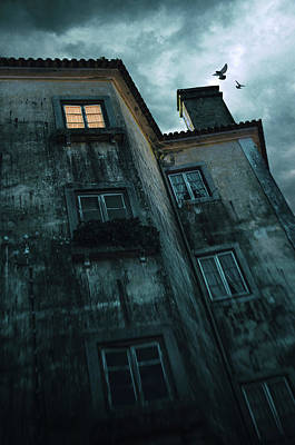 Photograph - Illuminated Window In An Old Mansion by Carlos Caetano