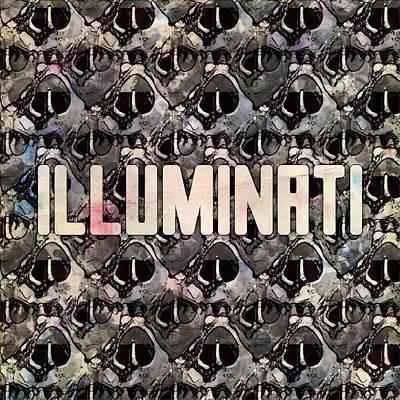 Illuminati Pattern By Mb And Rt Art Print