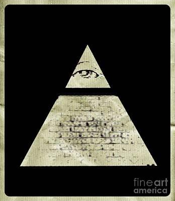 Lord Of The Rings Digital Art - Illuminati Symbol By Raphael Terra by Raphael Terra