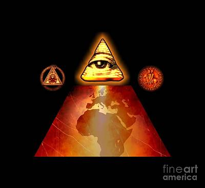 Kabbalah Painting - Illuminati World By Pierre Blanchard by Pierre Blanchard