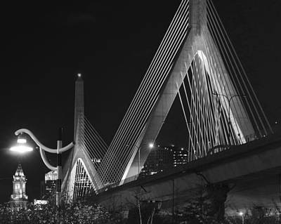 Illuminating Boston Black And White Art Print by Toby McGuire