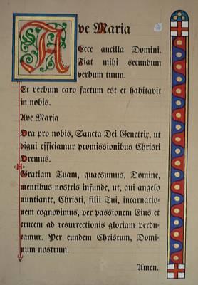Blasoning Painting - Illumination Angelus Prayer by Alexander Snehotta von Kimratshofen