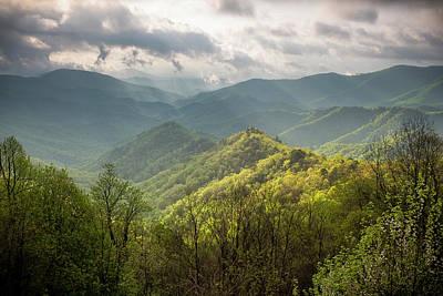 Photograph - Illumination - Blue Ridge Mountains of NC by L A Patterson