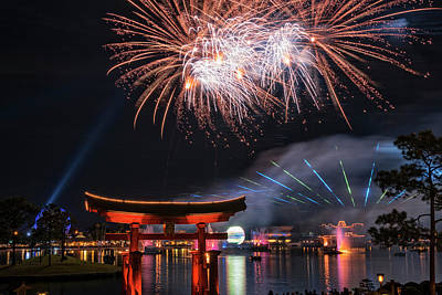 Photograph - Illuminations 1 - Epcot Center In Disney World Orlando Florida by Jim Vallee