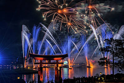 Photograph - Illuminations 2 - Epcot Center At Disney World Orlando Florida by Jim Vallee
