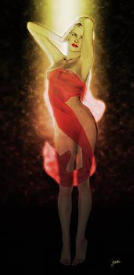 Digital Art - Illumined Girl by Joaquin Abella Ojeda