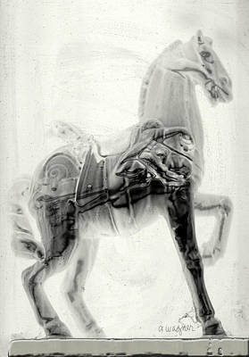 Prancing Digital Art - Illusion Of A Horse by Arline Wagner