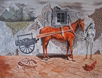 Illusion Of Presence Art Print by Ramaz Razmadze