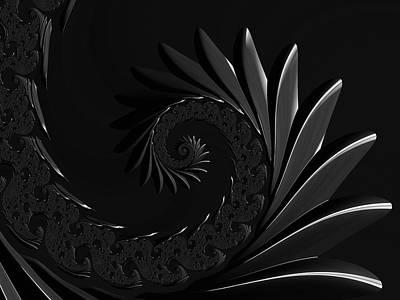 Digital Art - Illusions Of Grandeur Black And White by Georgiana Romanovna