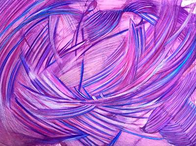 Abstract Movement Drawing - 'illusory Joy' by Kelly K H B