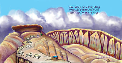 Digital Art - Illustrated Haiku 2 - Age 17 by Dawn Senior-Trask