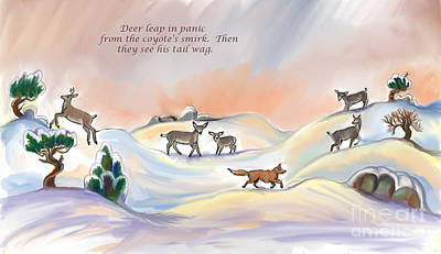 Digital Art - Illustrated Haiku 3 - Age 17 by Dawn Senior-Trask