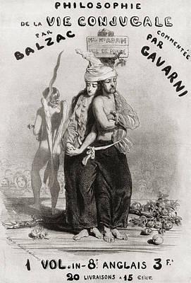 Balzac Drawing - Illustration By Paul Gavarni For by Vintage Design Pics