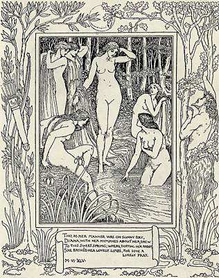 Faeries Drawing - Illustration From The Faerie Queene By by Vintage Design Pics
