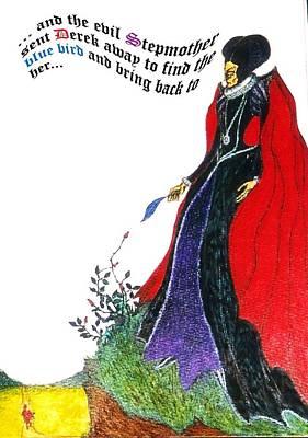 Greeting Card - Illustration To Scottish Fairytale 2 by Rae Chichilnitsky