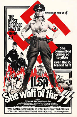 Cult Mixed Media - Ilsa - She Wolf Of The Ss 1975 by Mountain Dreams