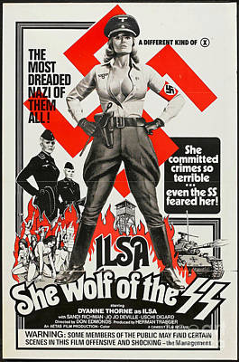 World Domination Photograph - Ilsa She Wolf Retro Vintage Poster by Pd