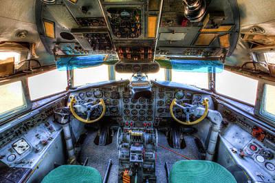 Photograph - Ilyushin Il-18 Cockpit  by David Pyatt