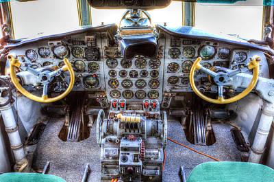 Photograph - Ilyushin Il-18 Cockpit View by David Pyatt